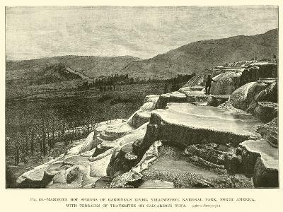 Mammoth Hot Springs of Gardiner's River--Giclee Print