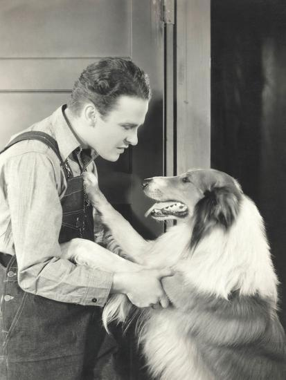 Man and His Collie--Photo