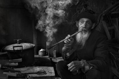 Man And Pipe 1-Moises Levy-Photographic Print