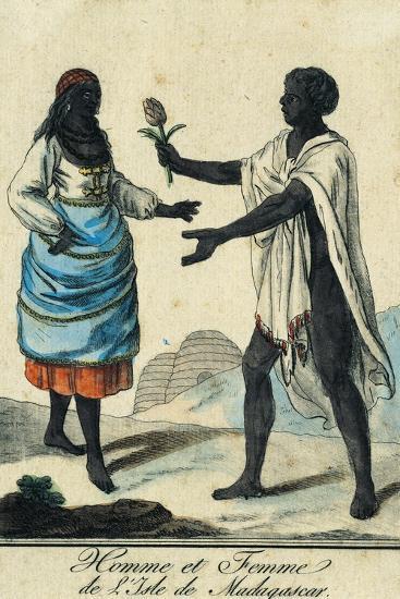 Man and Woman from Madagascar Island Madagascar--Giclee Print