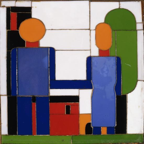 Man and Woman with Intersecting Arms-Franz Wilhelm		 Seiwert-Giclee Print