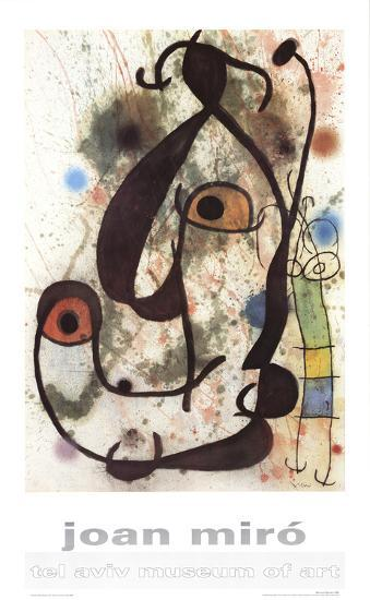Man and Woman-Joan Miro-Art Print