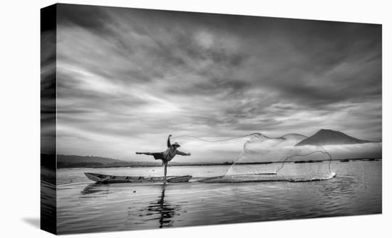 Man Behind The Nets-Arief Siswandhono-Stretched Canvas Print
