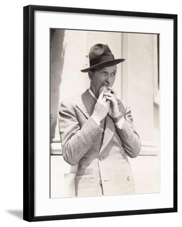 Man Biting into Apple--Framed Photo
