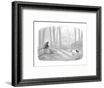 Man bringing alligator into dog park. - New Yorker Cartoon-Jason Patterson-Framed Premium Giclee Print