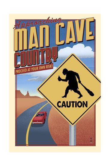 Man Cave Country-Lantern Press-Art Print