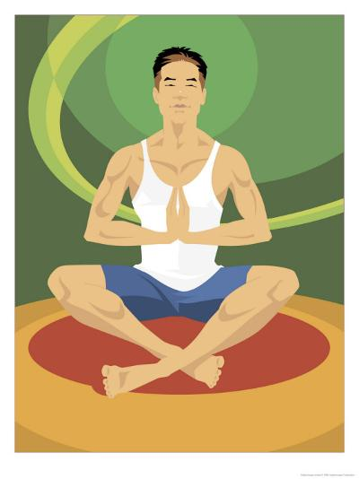 Man Doing Yoga--Art Print