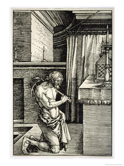 Man Flagellates Himself as Penance for His Sins-Albrecht D?rer-Giclee Print