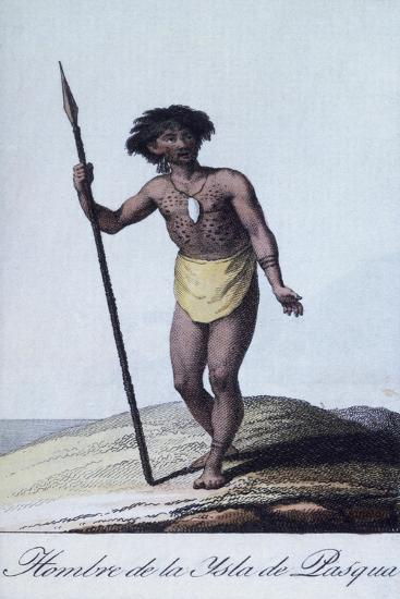 Man from Easter Island by Albuerne, Polynesia, 1799--Giclee Print