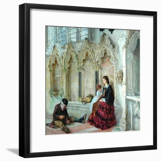 Man Goeth Forth To His Labours, 1859-Philip Hermogenes Calderon-Framed Giclee Print