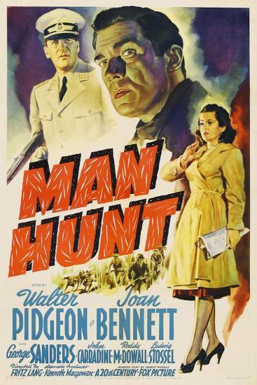 Man Hunt, 1941, Directed by Fritz Lang--Giclee Print