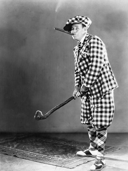 Man in a Checkered Golf Outfit--Photo