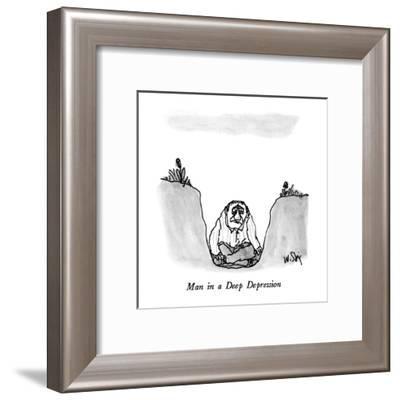 Man in a Deep Depression - New Yorker Cartoon-William Steig-Framed Premium Giclee Print