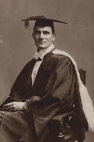 Man in Academic Costume--Photographic Print