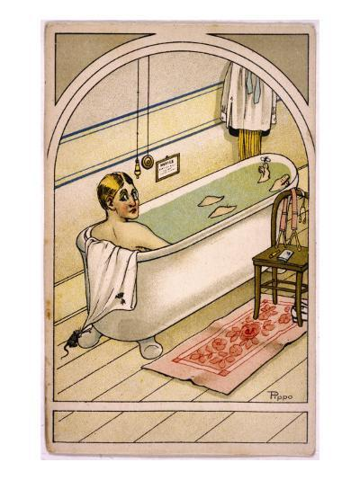 Man in Bath--Giclee Print