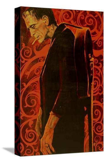 Man in Black-Mike Bell-Stretched Canvas Print