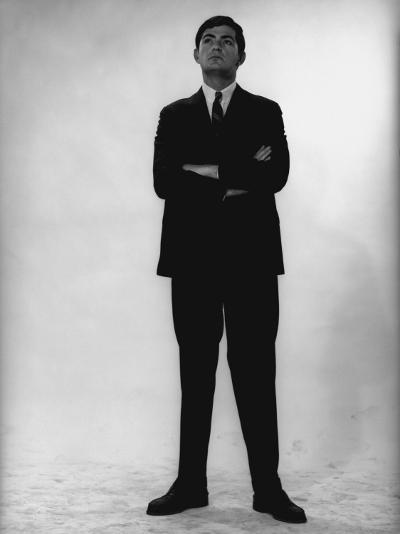 Man in Full Suit Standing in Studio-George Marks-Photographic Print