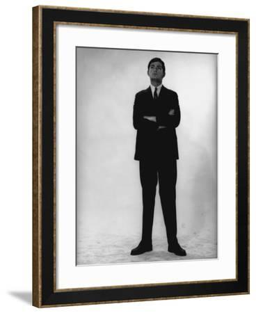 Man in Full Suit Standing in Studio-George Marks-Framed Photographic Print