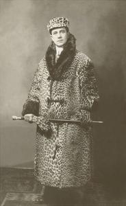 Man in Leopard Motoring Coat