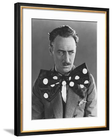 Man in Oversized Bow Tie--Framed Photo