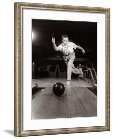 Man in Perfect Form Just Released Bowling Ball-H. Armstrong Roberts-Framed Photographic Print