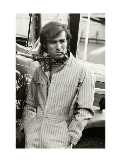 5f061d48570b Man in Striped Denim Jumpsuit and Bandana Leaning Against a Truck with a  Cigarette Premium Giclee Print by Bruce Weber