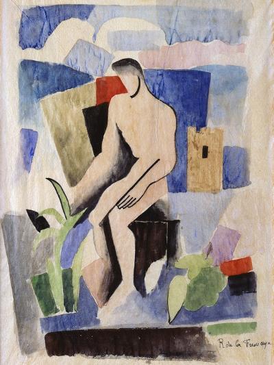 Man in the Country, Study for Paludes; Homme Dans Un Paysage, Etude Pour Paludes, c.1920-Roger de La Fresnaye-Giclee Print