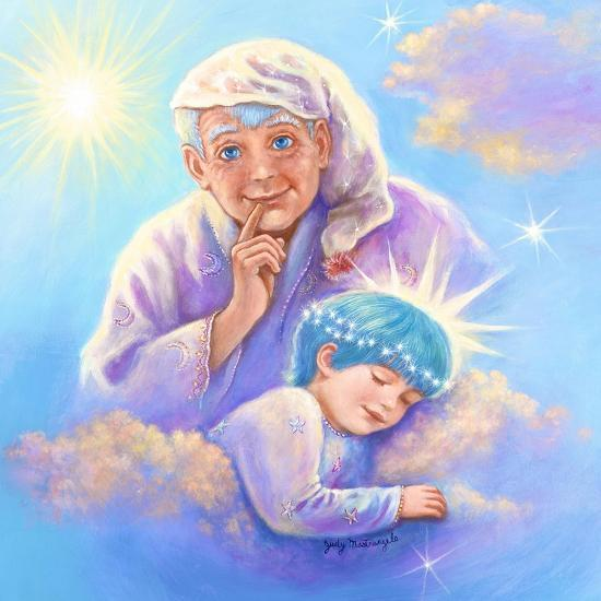 Man in the Moon and Sleeping Twinkle Star-Judy Mastrangelo-Giclee Print