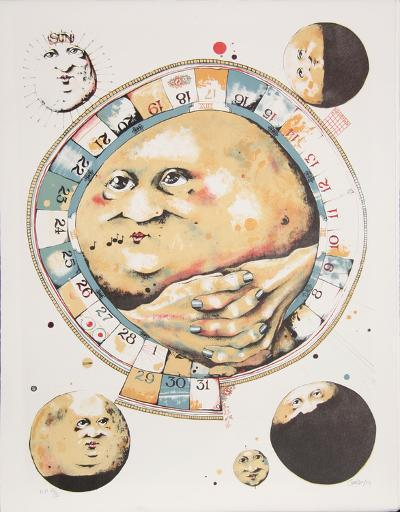 Man in the Moon Whistles from the Limestoned Portfolio-Dennis Geden-Limited Edition