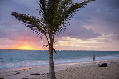 Man Jogging at Sunrise, Bavaro, Higuey, Punta Cana, Dominican Republic-Lisa S^ Engelbrecht-Photographic Print