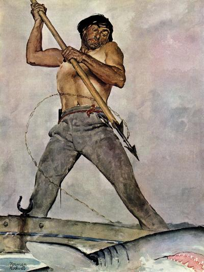 """Man-Killer"", January 27,1940-Norman Rockwell-Giclee Print"