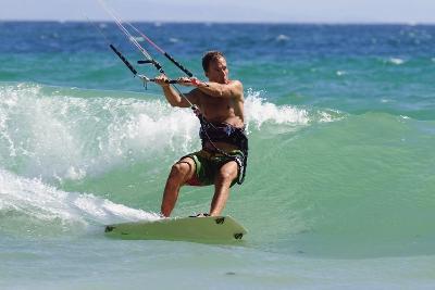Man Kite Surfing; Costa De La Luz,Andalusia,Spain-Design Pics Inc-Photographic Print