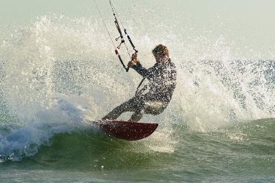 Man Kitesurfing; Costa De La Luz,Andalusia,Spain-Design Pics Inc-Photographic Print