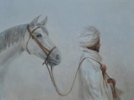 Man Leading Horse-Lincoln Seligman-Giclee Print