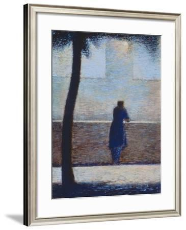 Man Leaning on a Parapet-Georges Seurat-Framed Giclee Print