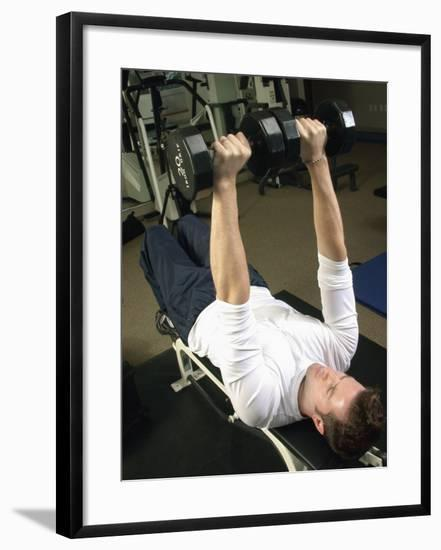 Man Lifting Weights--Framed Photographic Print