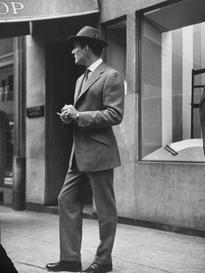 Man Modeling Executive Fashion-Nina Leen-Photographic Print