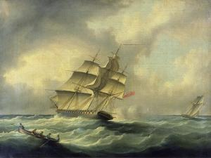 Man-O'-War at Sea, C.1850