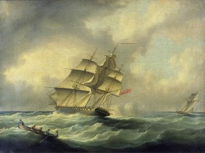 Man-O'-War at Sea, C.1850--Giclee Print