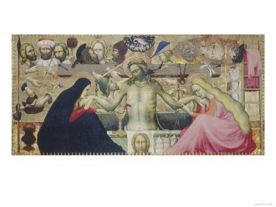 Man of Sorrows (Pieta ) with Symbols of the Passion, Galleria Dell'Accademia, Florence- Master Of The Strauss Madonna-Giclee Print