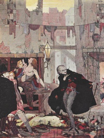 Man Of the Crowd-Harry Clarke-Giclee Print