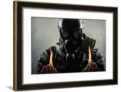 Man of the Post Nuclear Future- Sol.Ru-Framed Photographic Print