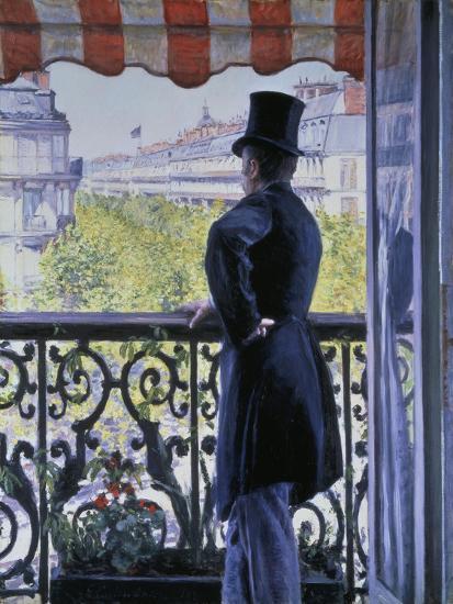 Man on a Balcony, Boulevard Haussmann, 1880-Gustave Caillebotte-Giclee Print