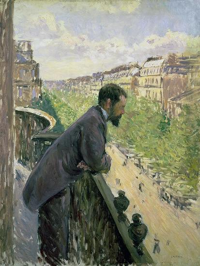 Man on a Balcony, C.1880-Gustave Caillebotte-Giclee Print