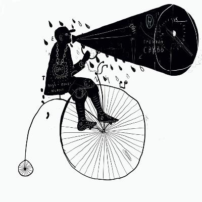 Man on a Bicycle-Dmitriip-Art Print