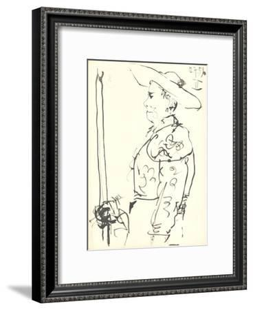 Man on a Horse (Detail)-Pablo Picasso-Framed Lithograph