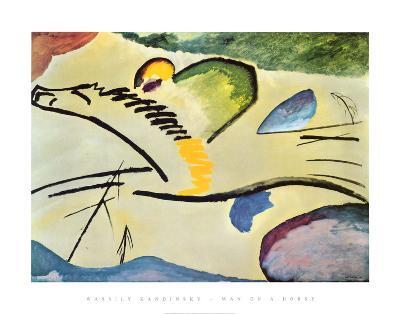 Man On A Horse-Wassily Kandinsky-Art Print