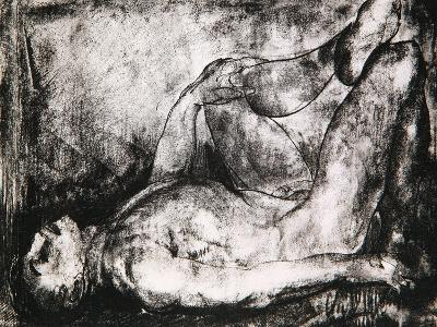 Man on His Back, Nude, C.1916-George Wesley Bellows-Giclee Print