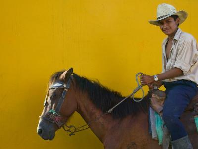 Man on Horseback, Honduras-Keren Su-Photographic Print