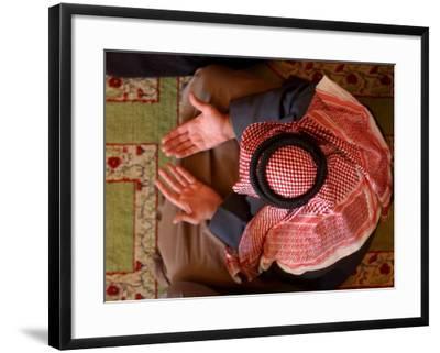 Man Prays at At Sunni Muslim Um Al-Qura Mosque in Baghdad, Iraq--Framed Photographic Print